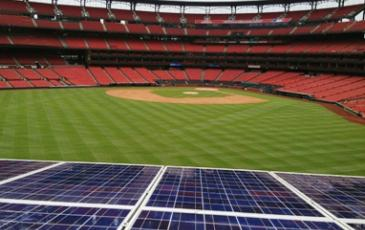 Source: Solar panels at Busch Baseball Stadium